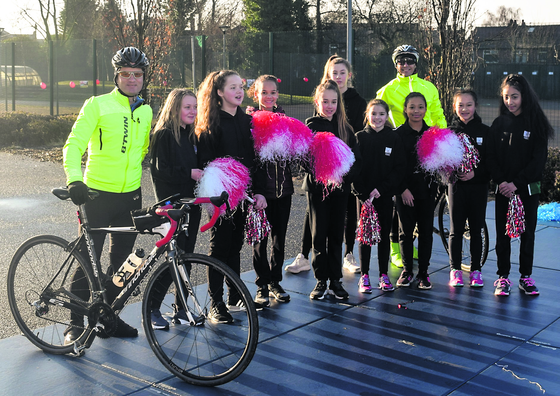 Students get their running shoes on in support of national cycle challenge