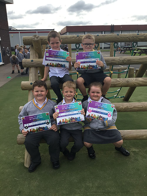 Smiles all round as Cheadle Catholic Infant School takes top honours