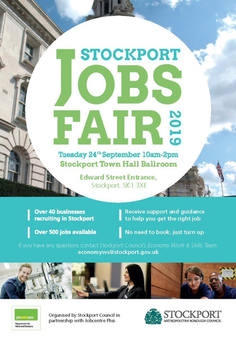 Hundreds of Jobs on offer at Stockport Jobs Fair