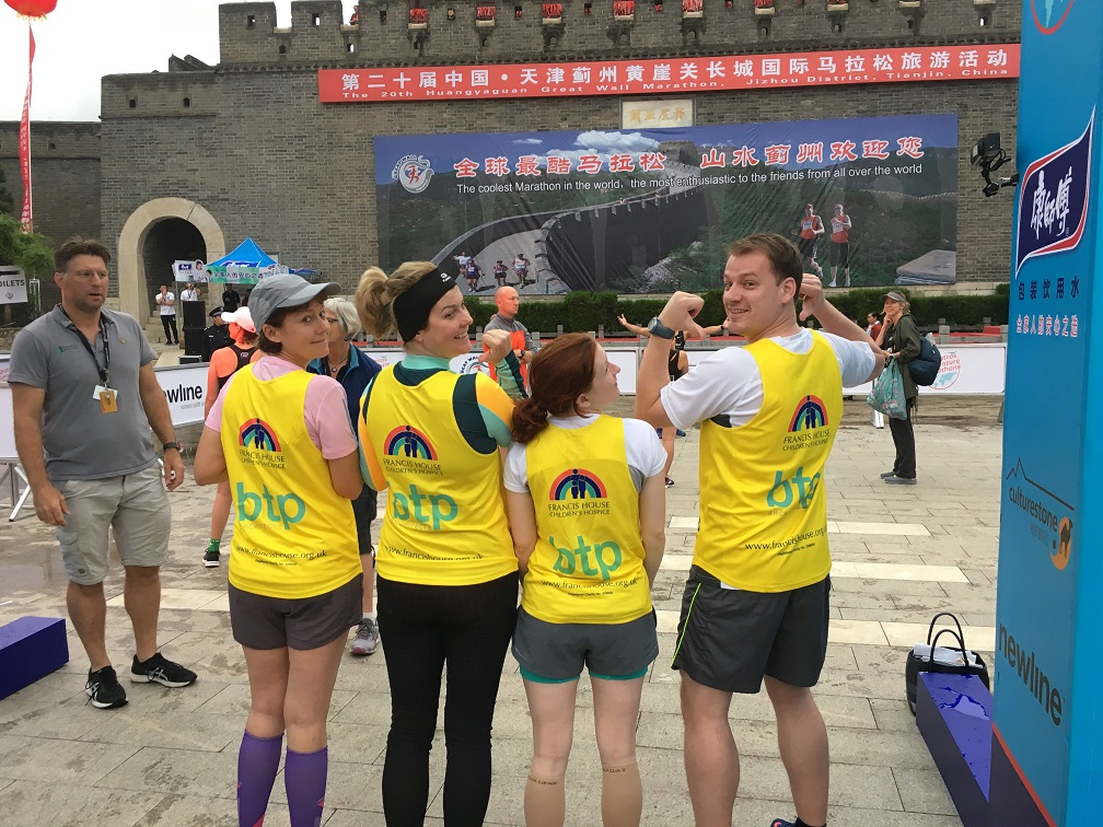 Architects conquer Great Wall of China Marathon for Francis House