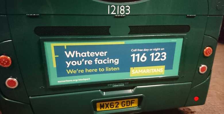 Bus campaign celebrates Stockport Samaritans anniversary