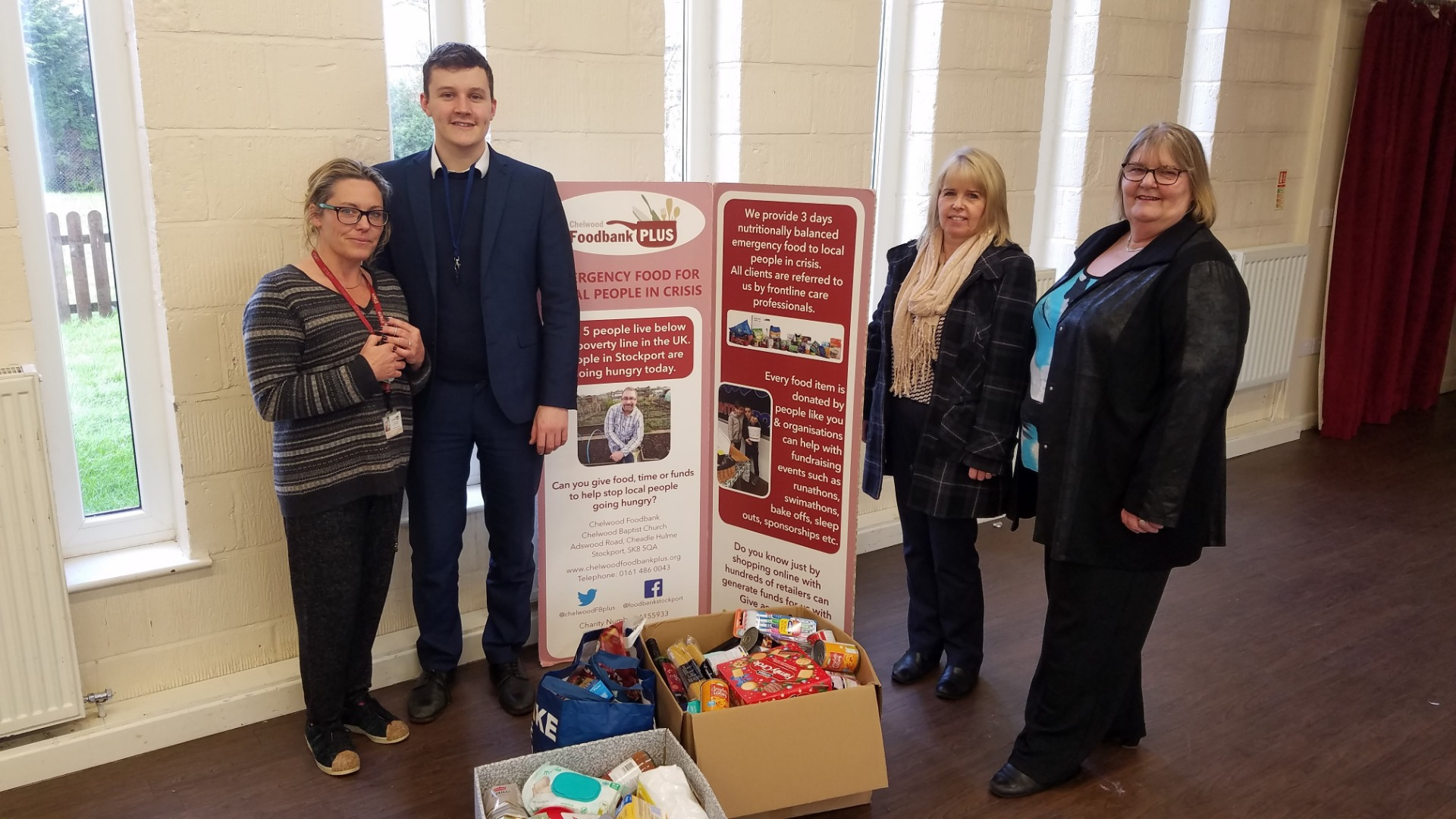 Vernon Building Society donates to Stockport foodbanks